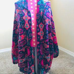 Colorful boutique cardigan/shrug SZ sm